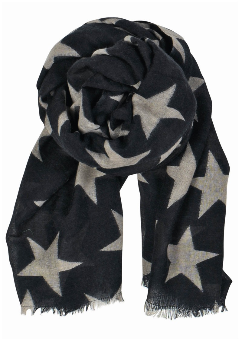 Becksondergaard Supersize Nova Star Silk Blend Scarf - Navy main image