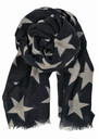 Becksondergaard Supersize Nova Star Silk Blend Scarf - Navy