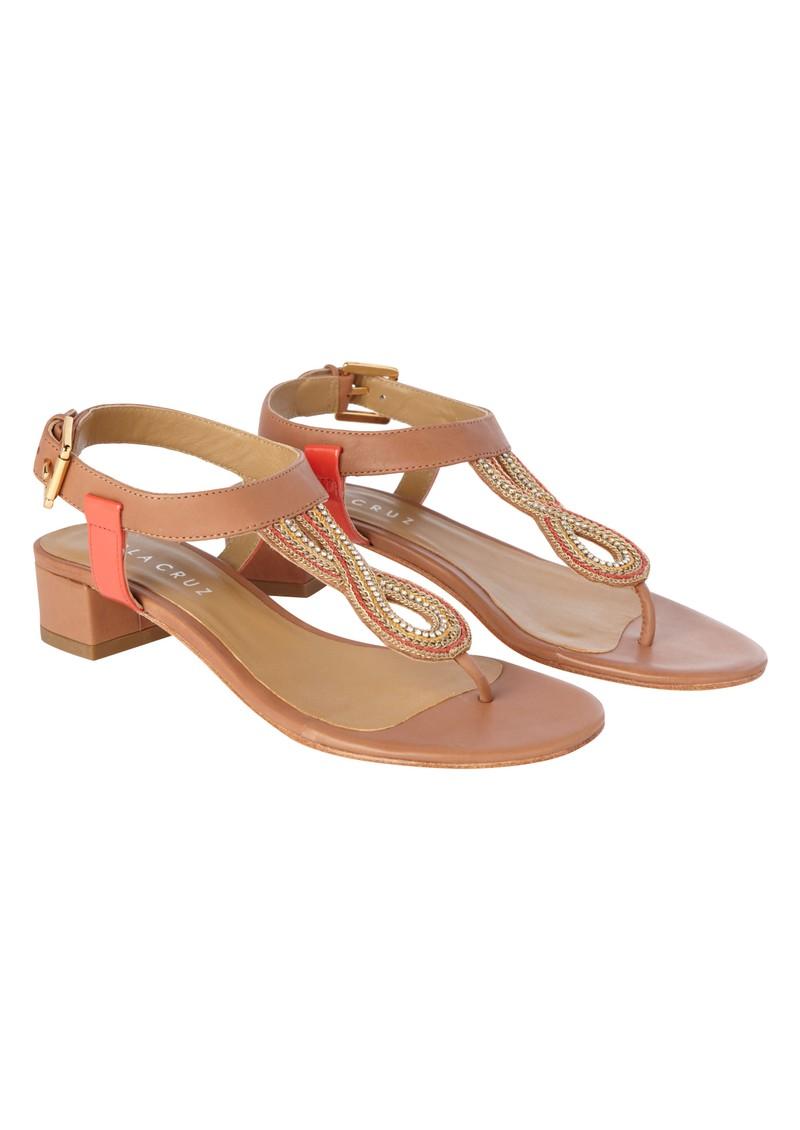 Lola Cruz Buckle Sandals - Coral main image