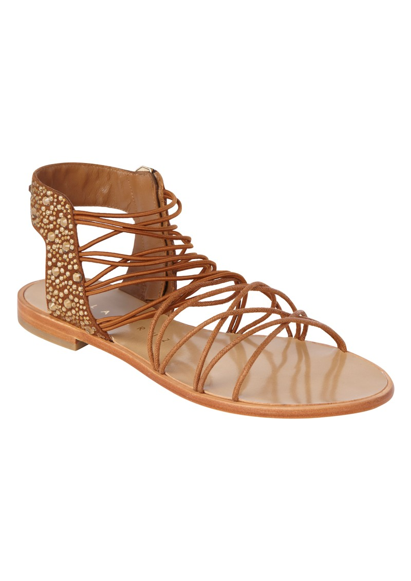 Lola Cruz Elastic Flat Sandals - Brown main image