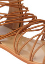 Elastic Flat Sandals - Brown additional image