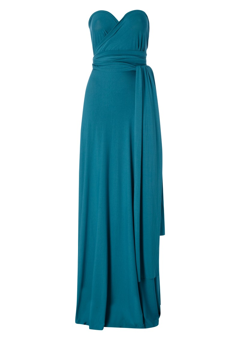 Butter By Nadia Signature Long Jersey Wrap Dress - Teal main image