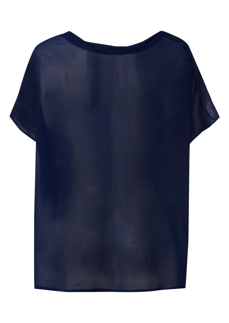 American Vintage Dunn Silk & Cashmere Blend Tunic - Electric Blue main image