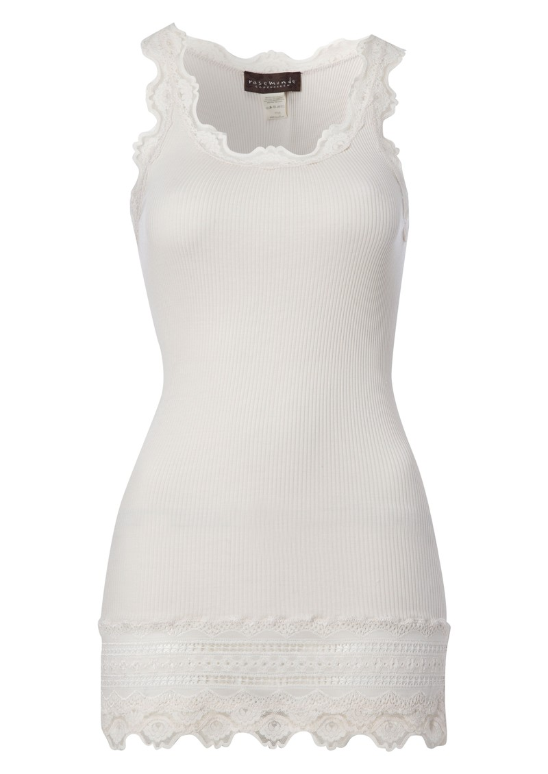 Rosemunde Wide Lace Silk Blend Vest - Soft Powder main image