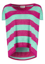 Free Short Sleeve Linen Tee - Fushia & Mint additional image