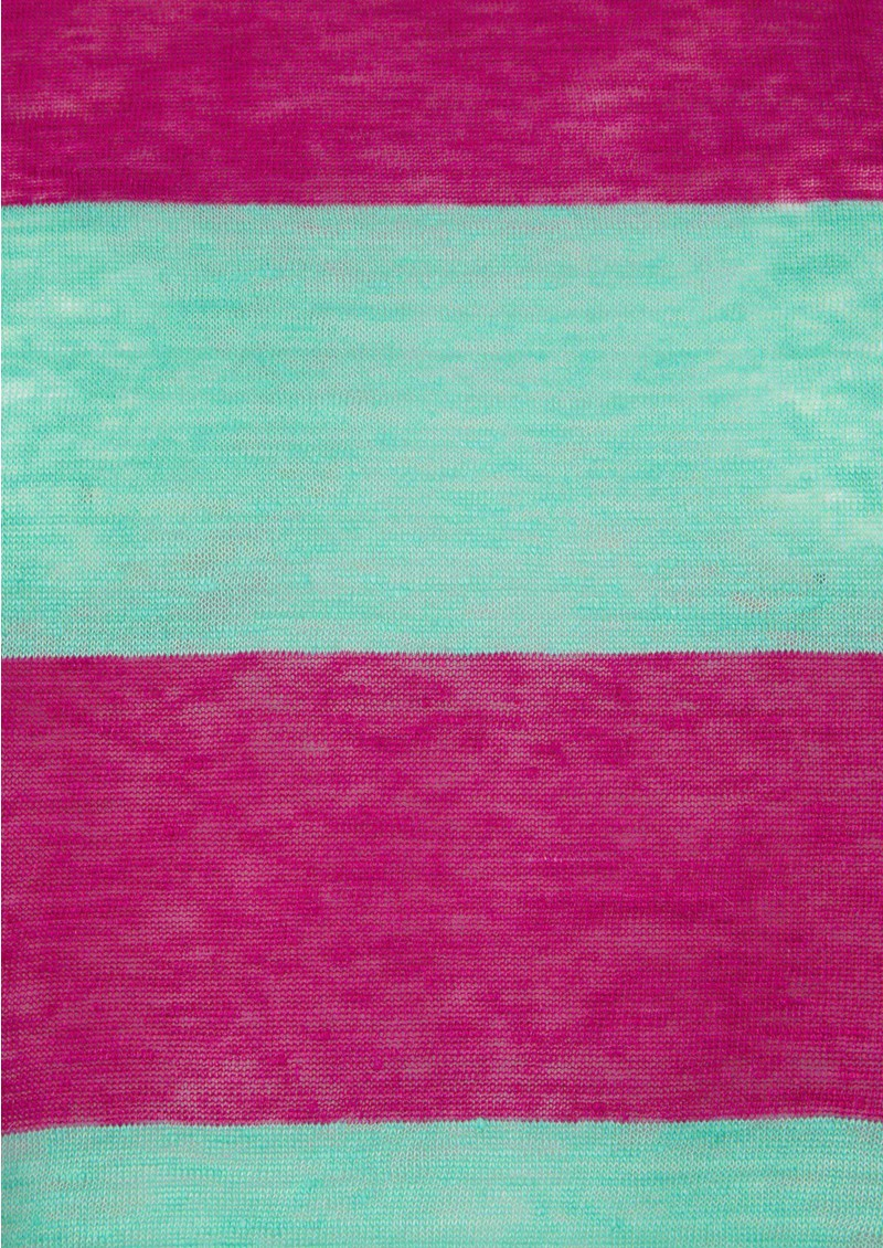 American Vintage Free Short Sleeve Linen Tee - Fushia & Mint main image