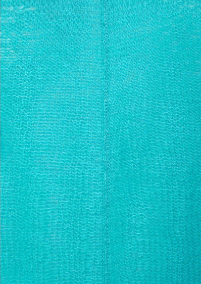 American Vintage Free Short Sleeve Linen Tee - Flash Curacao main image