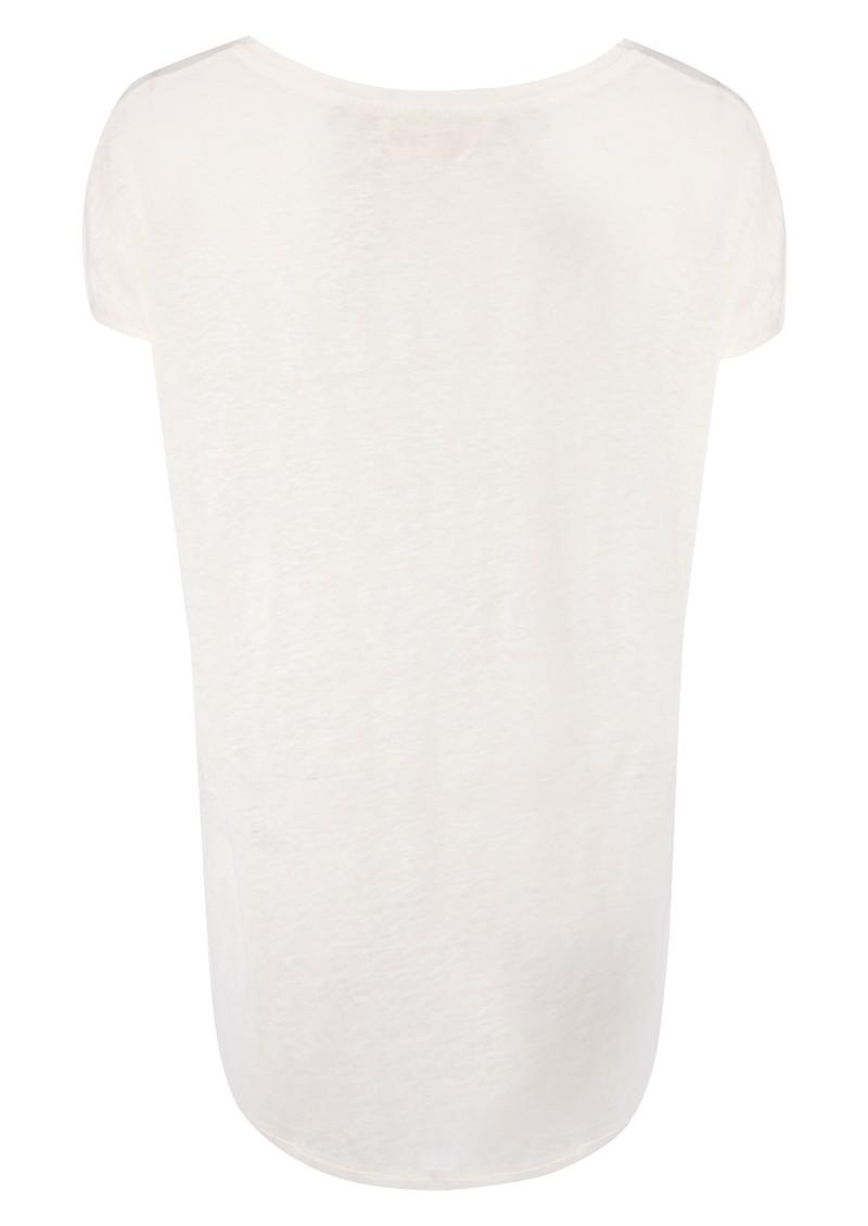 American Vintage Free Short Sleeve Linen Tee - Flash Pearl main image