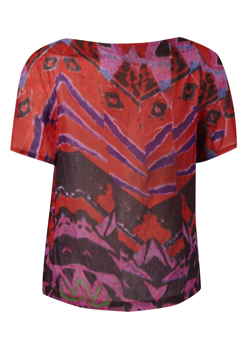 Antik Batik Opyla Silk Mix Print Tee - Red main image