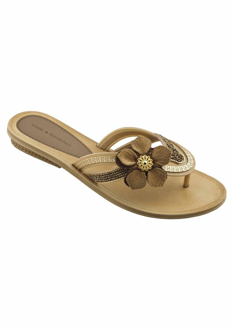 4834c710ead Ipanema Corolla Gisele Bundchen Flip Flops in Beige Shop Now!