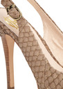 House Of Harlow Nadya Snakeskin Shoes - Brown