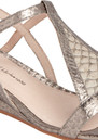 Casmine Snakeskin Sandals - Pewter additional image
