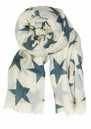 Becksondergaard Supersize Nova Star Silk Blend Scarf - Off White