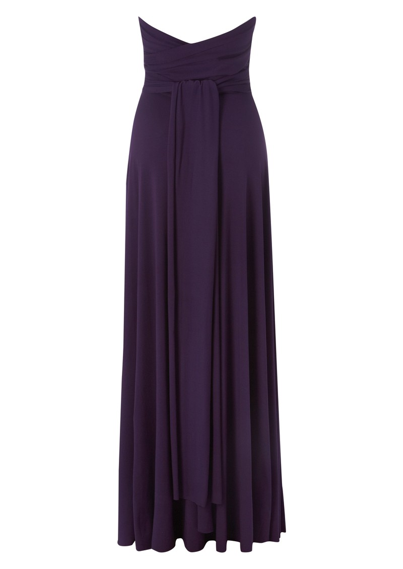 Butter By Nadia Long Jersey Dress - Eggplant main image
