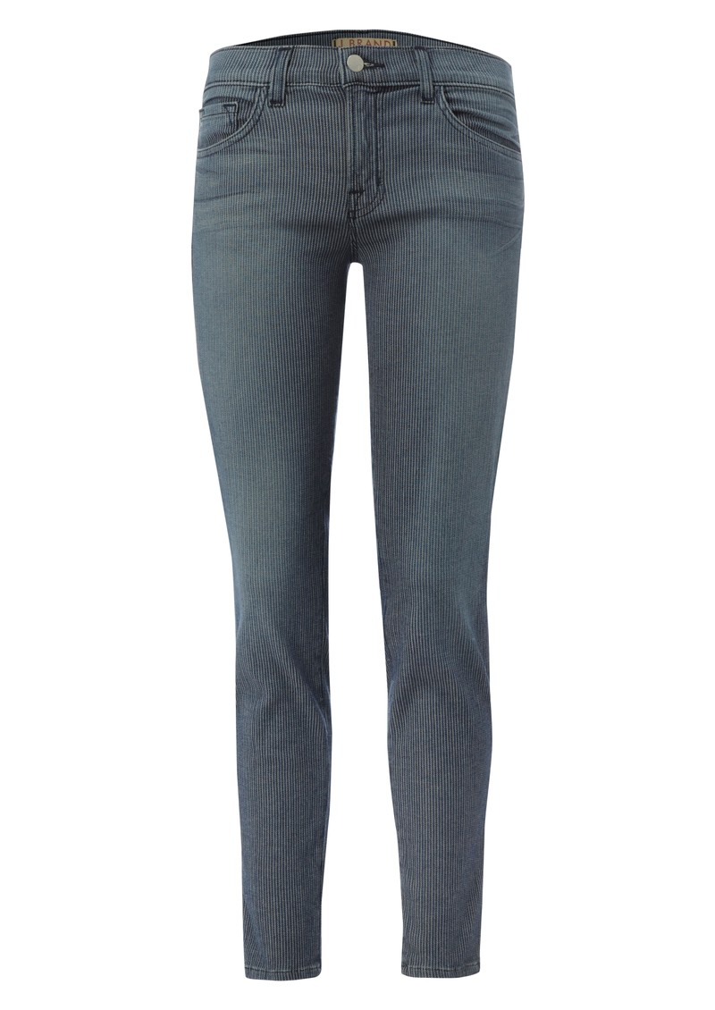 J Brand 8510 Mid Rise Cropped Cass Skinny Jeans - Vintage Stripe main image
