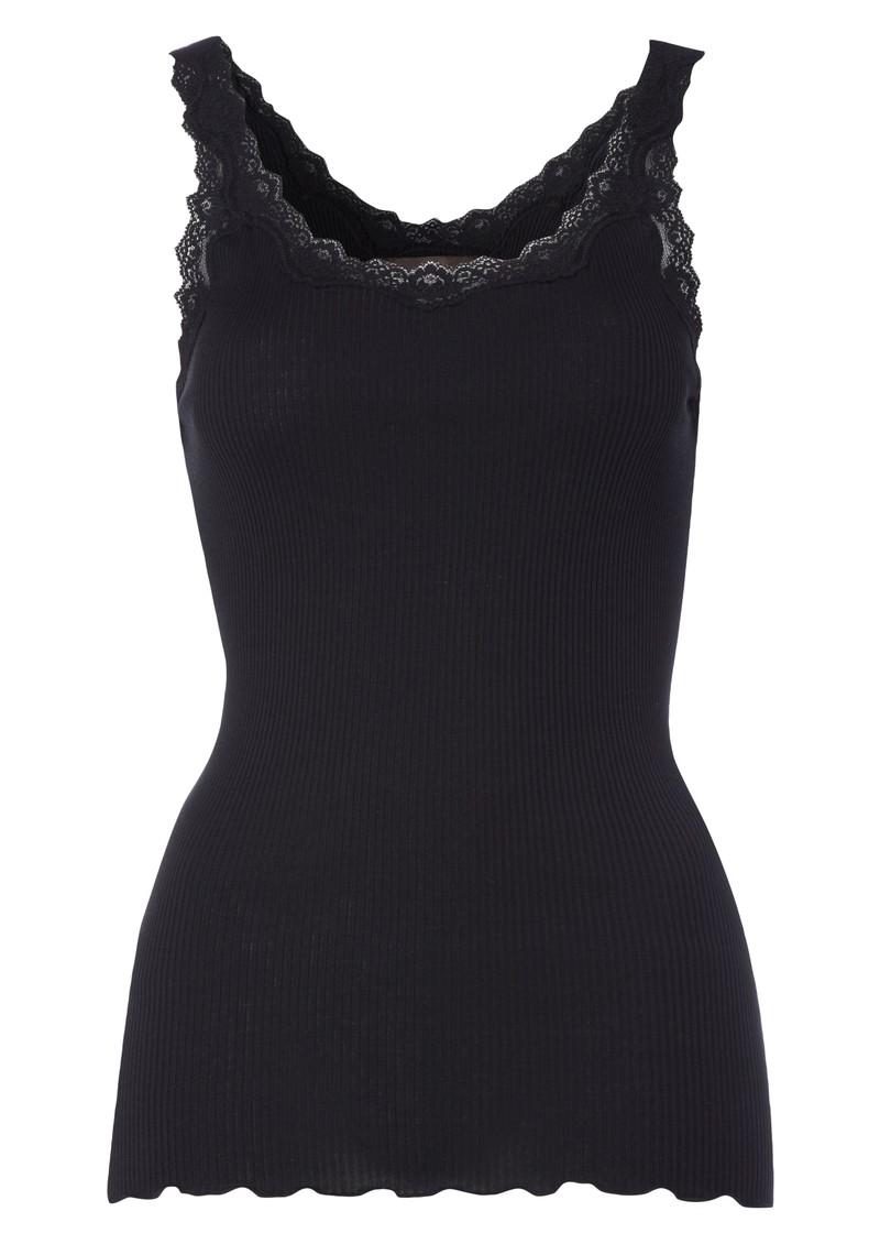 Rosemunde Reversed Silk Blend Lace Vest - Black main image