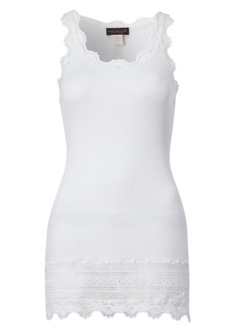 Rosemunde Wide Lace Silk Blend Vest - White main image