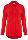 Equipment Signature Silk Shirt - Red