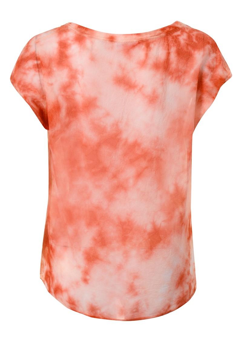 American Vintage Titusville Tie Dye Silk Top - Flash Mandarin main image