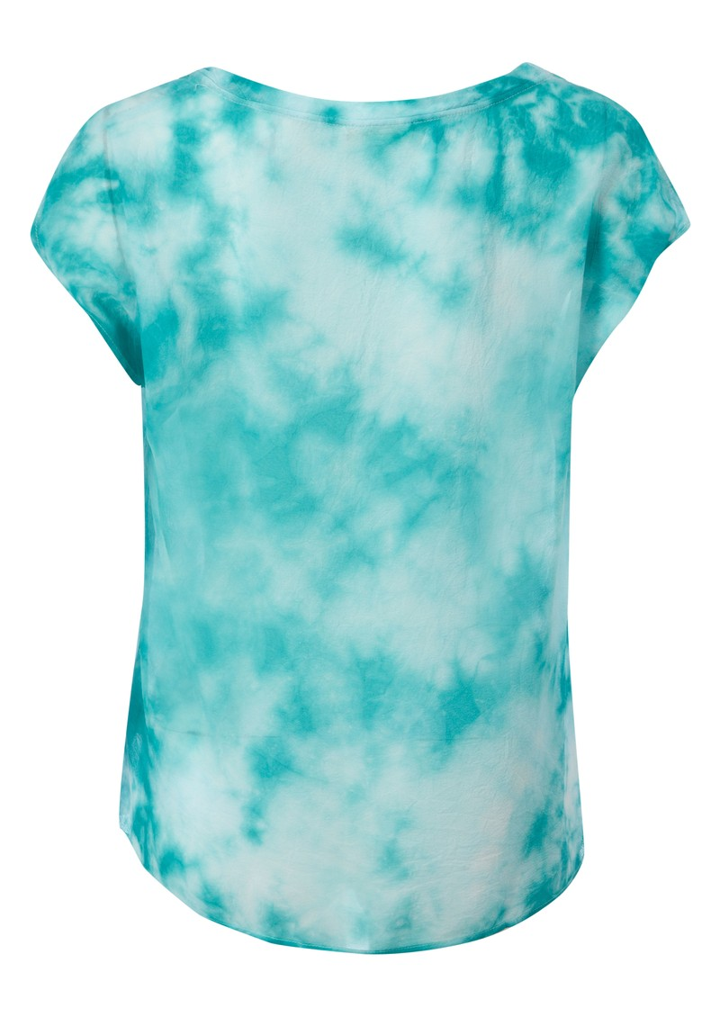 Titusville Tie Dye Silk Top - Flash Curacao main image