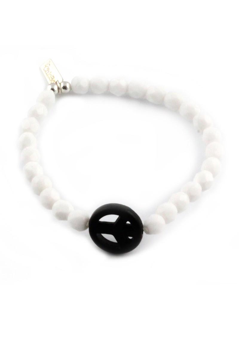 ChloBo Ice Pop Bracelet with Peace Charm - Black main image