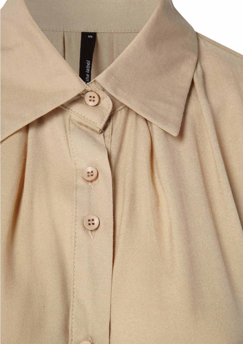 STAPLE Tuck Sleeveless Dress - Natural main image