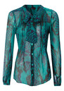 Silk Blouse - Teal additional image