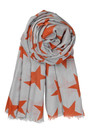 Becksondergaard X Supersize Nova Star Silk Blend Scarf - Spicy Salsa