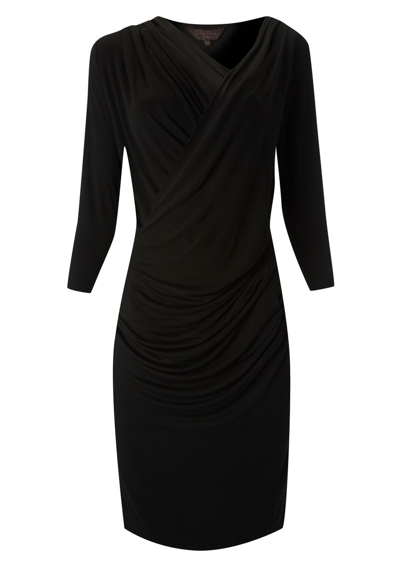 Great Plains Alice Drape Jersey Dress - Black main image