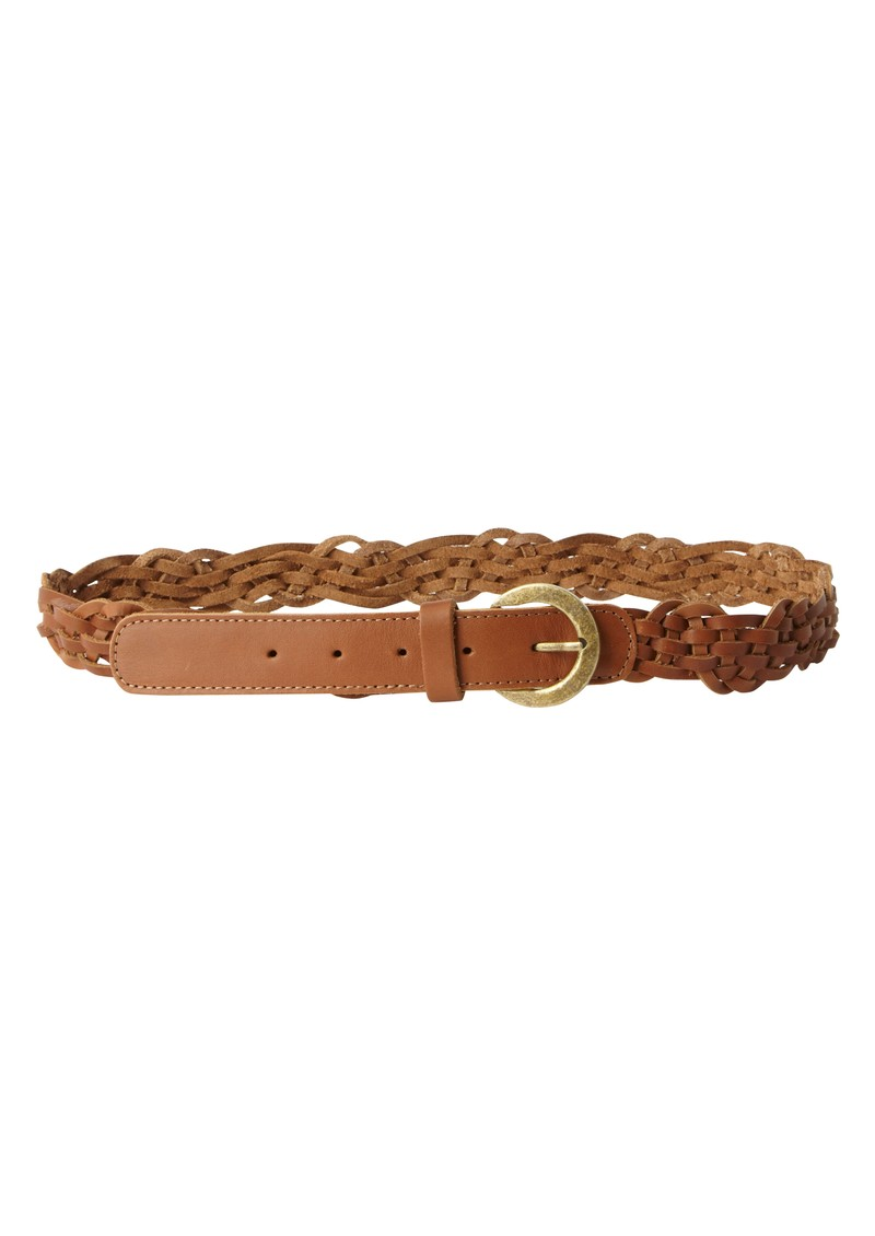 Great Plains Patsys Plait Leather Belt - Tan main image