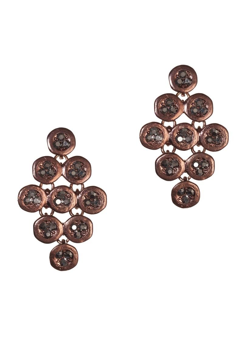 Ingenious Chandelier Earrings - Choco main image