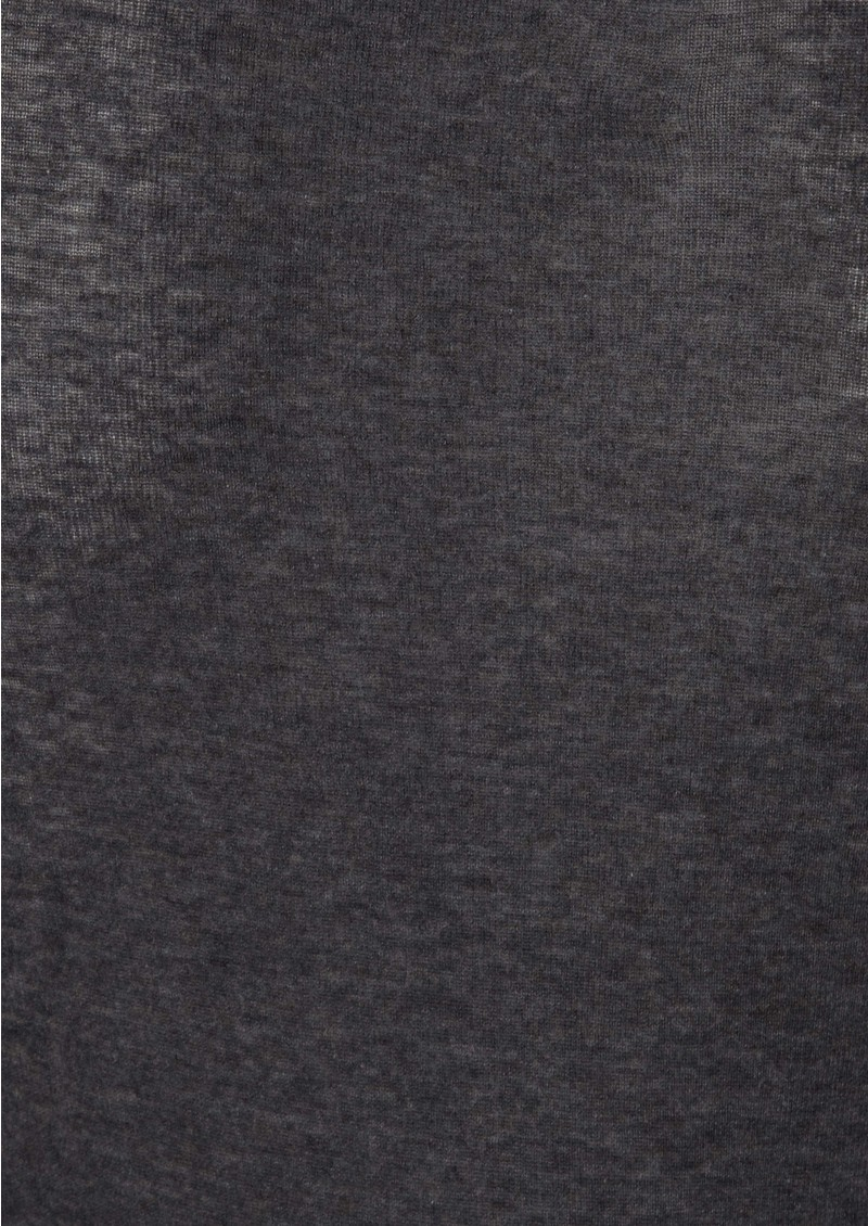 American Vintage Massachussets Long Sleeve Tee - Charcoal Melange main image