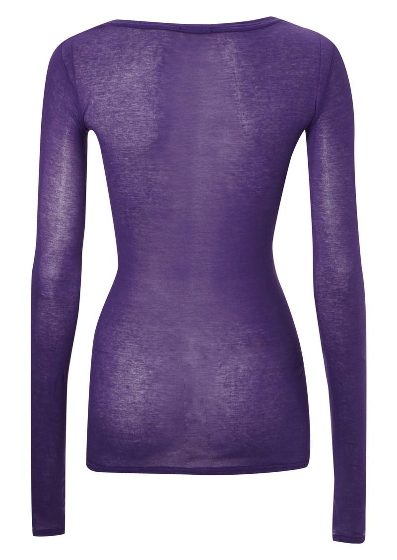 American Vintage Massachussets Long Sleeve Tee - Ultra Violet main image