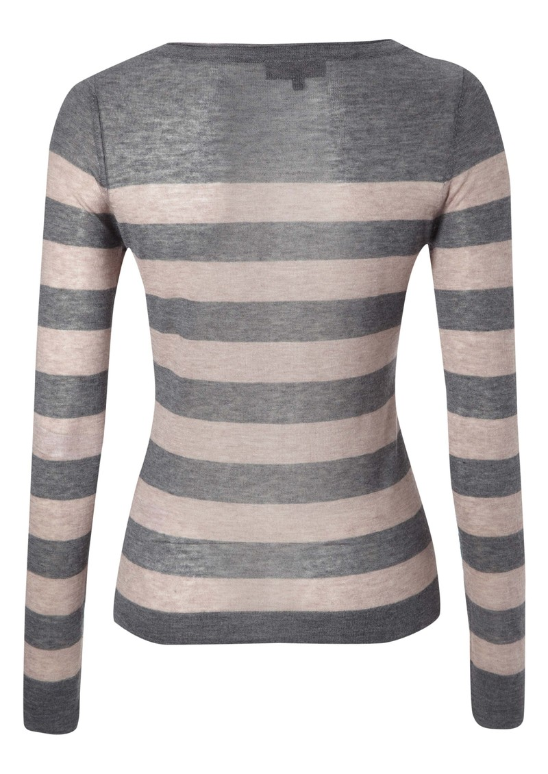 Great Plains Penelope Wool Blend Stripe Knit - Grey main image