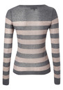 Penelope Wool Blend Stripe Knit - Grey additional image
