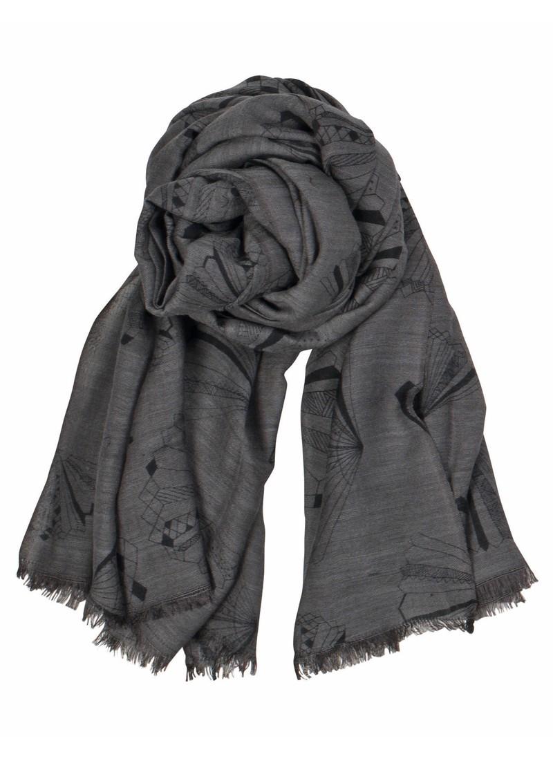 Becksondergaard X Angelo Wool & Silk Blend Scarf - Greyish Plum main image