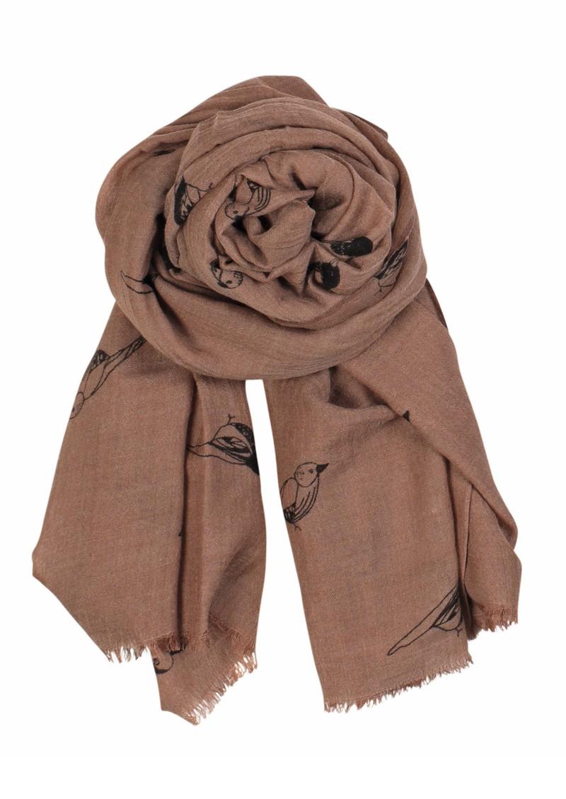 Becksondergaard X Sparrow Wool & Silk Blend Scarf - Dark Powder main image