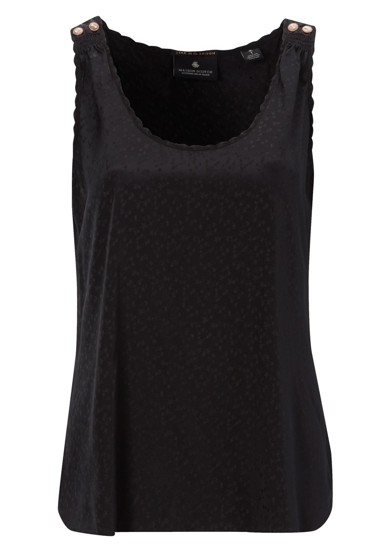Maison Scotch Silky Star Tank - Black main image