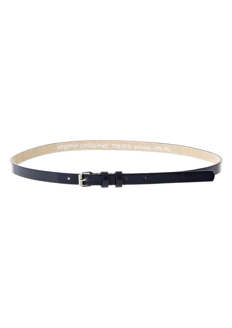 Virginie Castaway Esteban leather belt - Marine main image