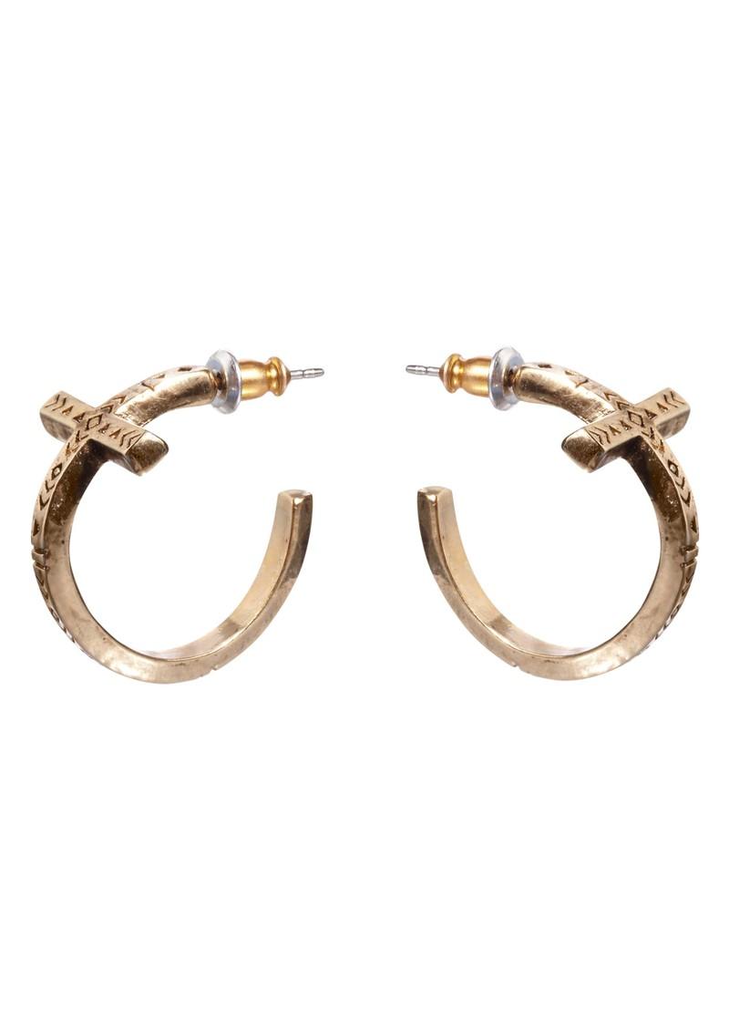 House Of Harlow Cross Hoop Earrings - Gold main image