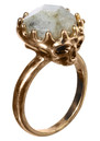 Stone Top Skull Ring - Gold additional image