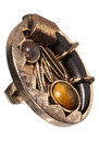 House Of Harlow Feather and Horn Ring - Gold