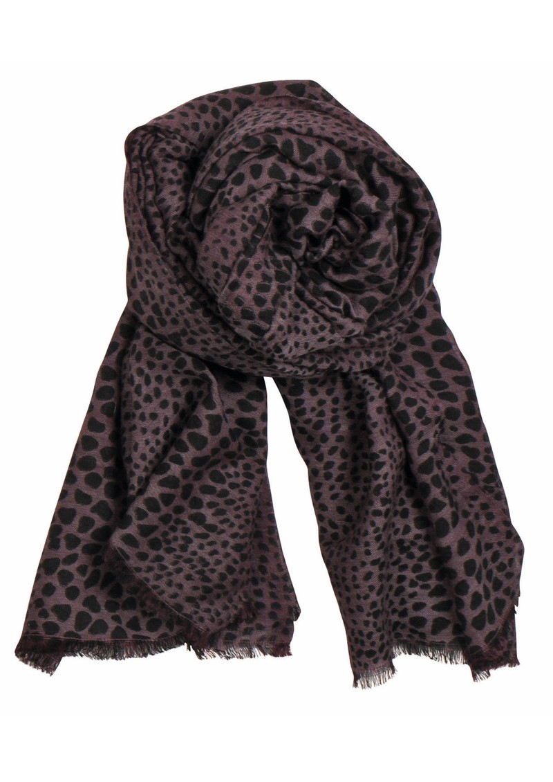 Doreen Wool and Silk Blend Scarf - Burgundy main image