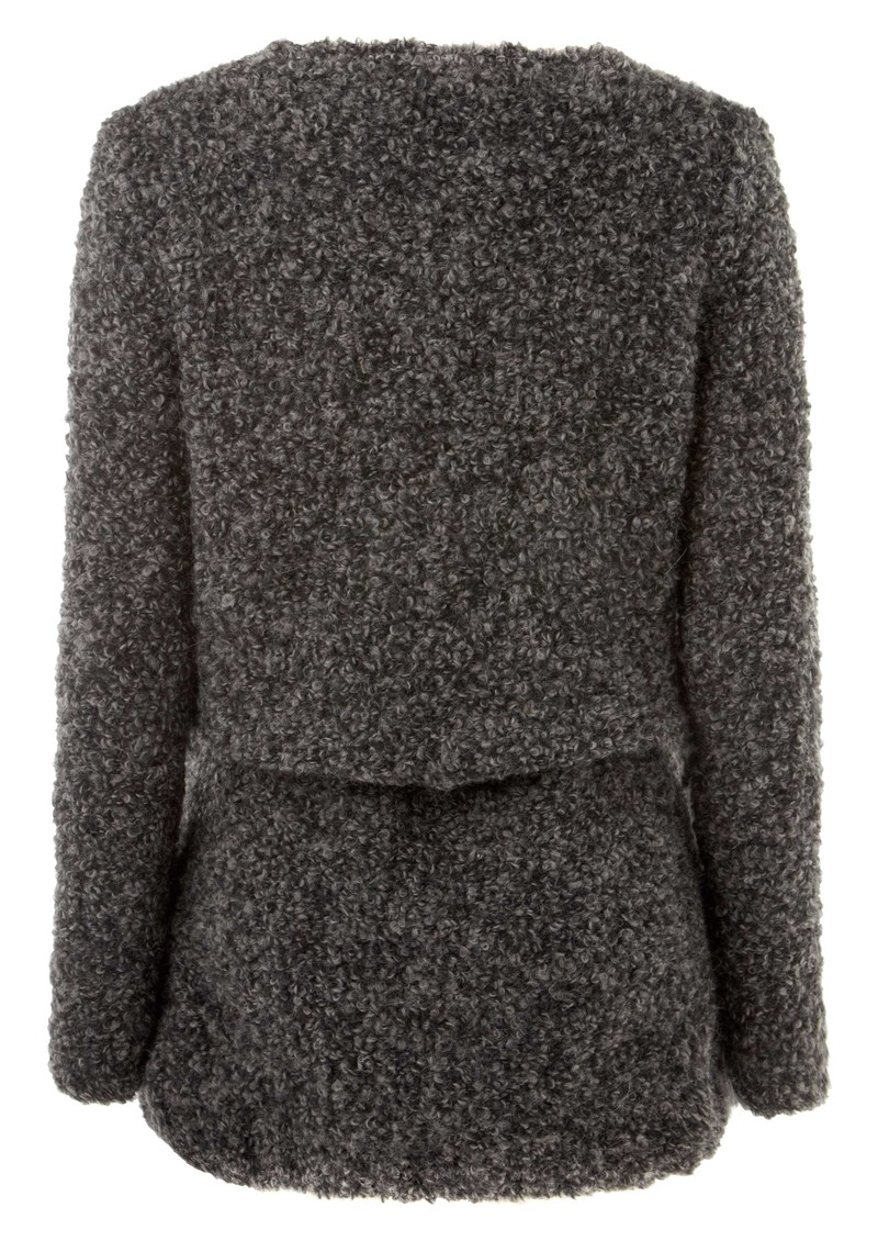 American Vintage Long Wool Mix Cardigan - Charcoal main image
