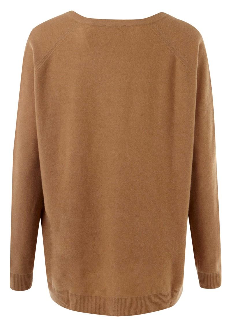 American Vintage Picayune Wool Long Sleeve V Neck Pullover - Savannah main image
