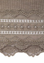 Wide Lace Silk Blend Vest - Brown Melange additional image