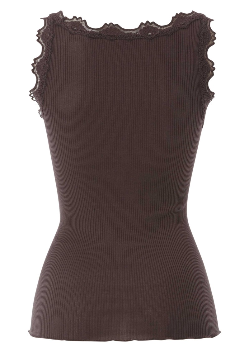 Rosemunde Silk Blend Lace Vest - Chocolate Lilac  main image