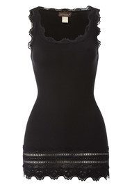 Rosemunde Wide Lace Silk Blend Vest - Black