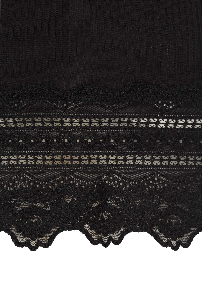 Wide Lace Silk Blend Vest - Black main image