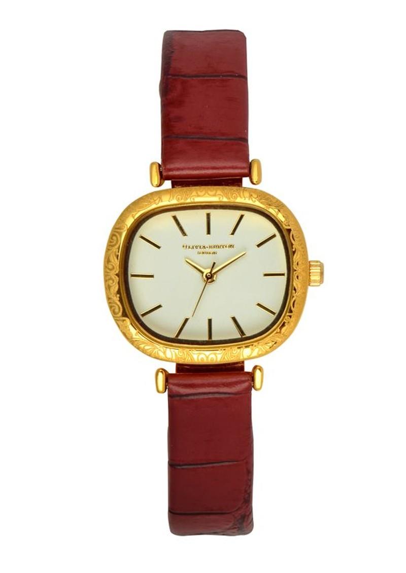 Olivia Burton Vintage Style Watch - Burgundy main image